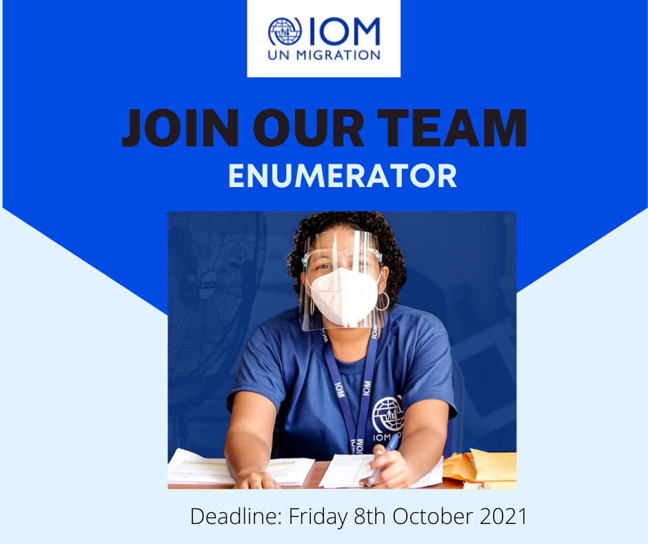 Apply to be an IOM Enmuerator!